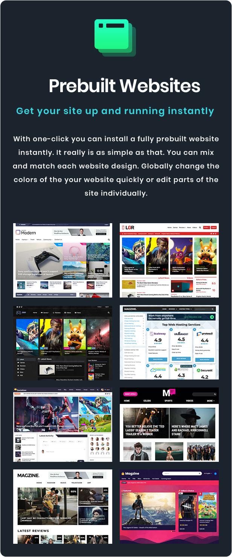 Prebuilt Website Designs