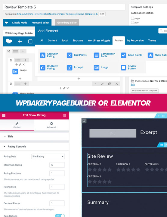 WPBakery Page Builder and Elementor